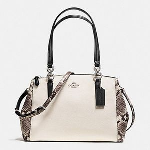 COACH Small Christie Snake Detailed Carryall!